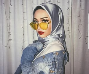 hijab, makeup, and style image