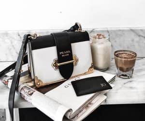 fashion, coffee, and Prada image