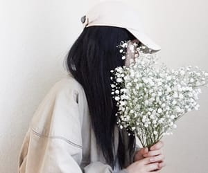 flowers, faceless, and girl image