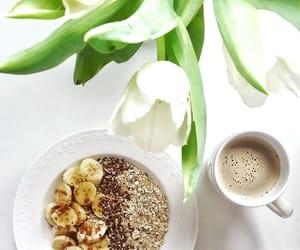 banana, coffee, and flowers image