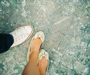 shoes, map, and couple image