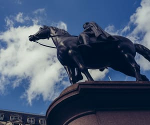 horse, london, and statue image