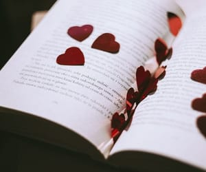 book, hearts, and love image