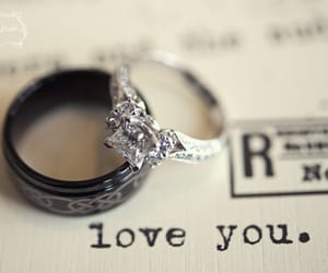 engagement, romance, and rings image