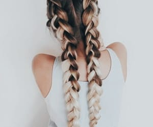 aesthetic, ombre hair, and braids image