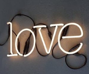 love, light, and neon image