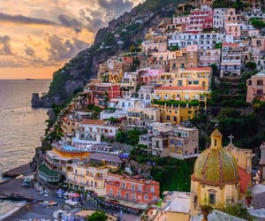 positano, beautiful, and italienne image