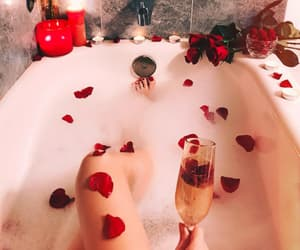 relax, love, and rose image