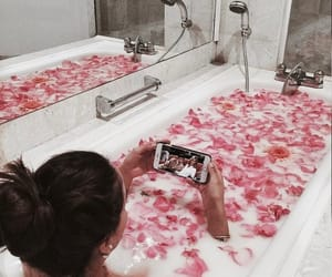 bath, relax, and rose image