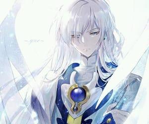 anime boy, yue, and sakura card captor image