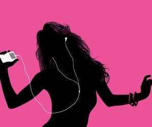 music, pink, and ipod image