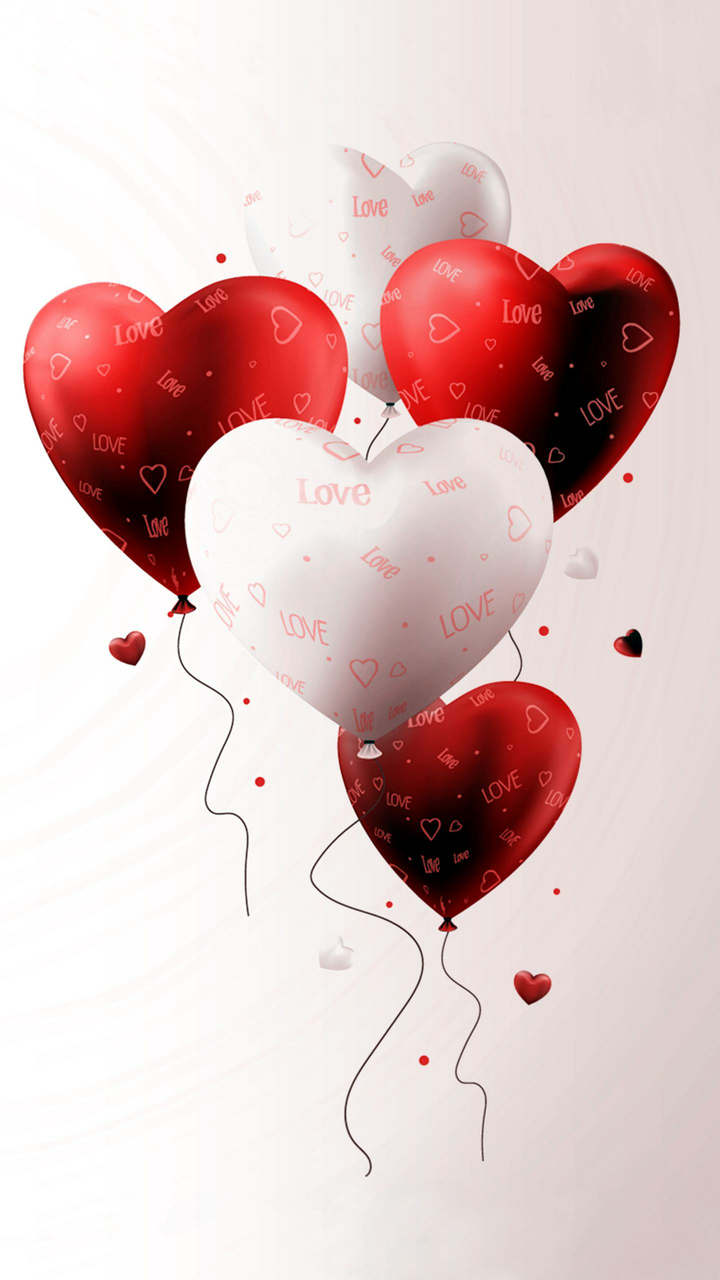 balloons, hearts, and love image