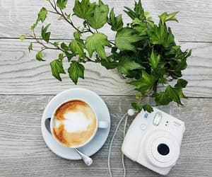 blogger, camera, and coffee image