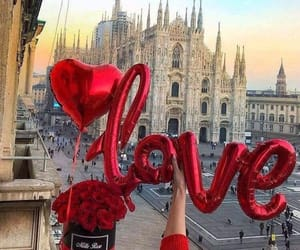 love, balloons, and city image