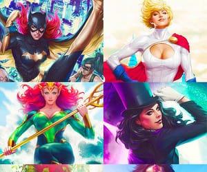 batgirl, poison ivy, and wonder woman image