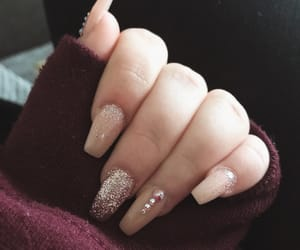 beauty, nails, and coffin nails image