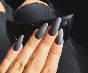nails, grey, and black image