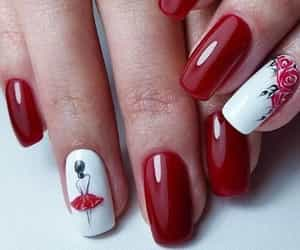 nails, red, and beautiful image