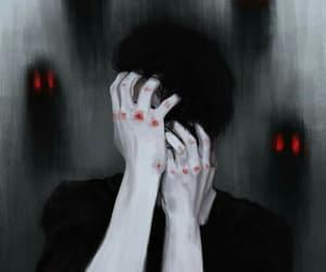 dark, art, and black image