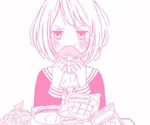 pink, anime, and manga image