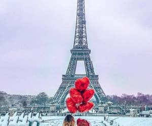 paris, snow, and Valentine's Day image
