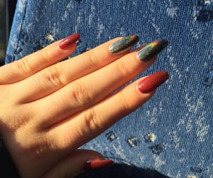 nails, red, and holonails image