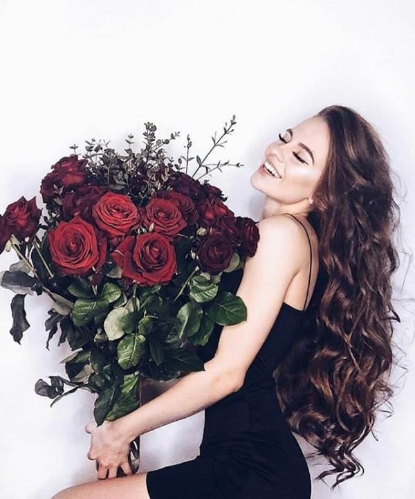 roses and smile image