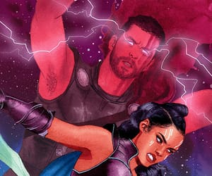 Marvel, thor, and valkyrie image