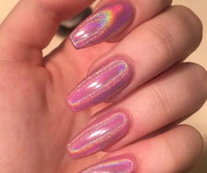 nails, alternative, and pink image