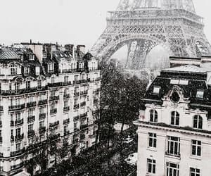 paris, city, and snow image