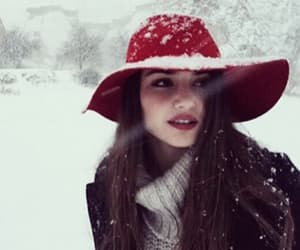 beauty, girl, and snow image