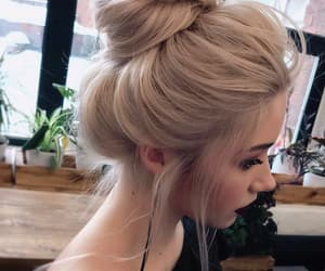 girl, style, and hairstyle image