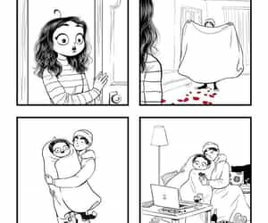 funny, love, and comic image