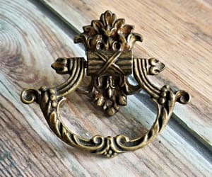 etsy, dresser hardware, and brass drawer pull image
