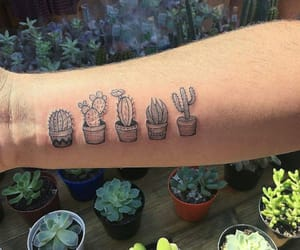 cactus, grunge, and tattoo image