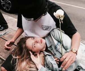 beautiful, kiss, and rose image