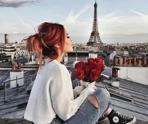 paris, fashion, and flowers image