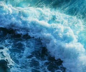 ocean, blue, and wallpaper image
