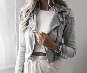 beauty, hairstyle, and clothes image