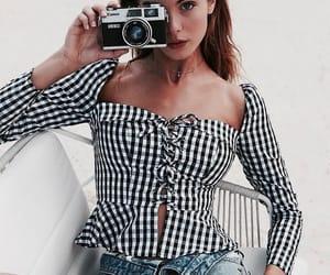 camera, girl, and fashion image