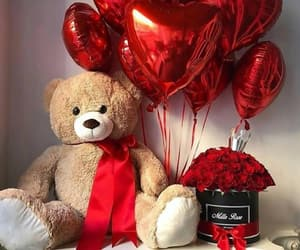 red, roses, and love image