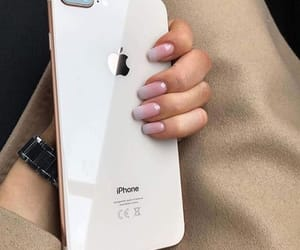 iphone, nails, and iphone 8 image