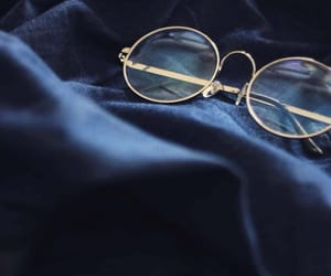 glasses, blue, and aesthetic image
