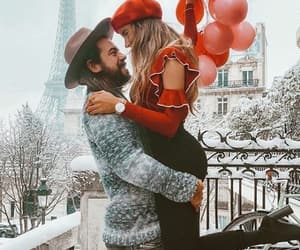 balloons, couple, and france image