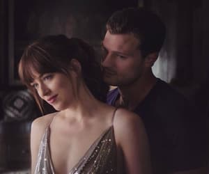 christian grey, anastasia steel, and fifty shades freed image
