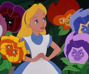 disney, alice in wonderland, and flowers image