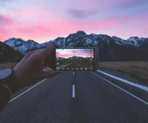 mountains, photography, and sunrise image