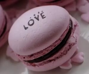 pink, yummy, and ‎macarons image