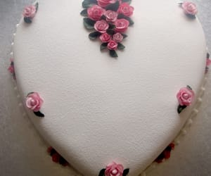 cake, rose, and heart image