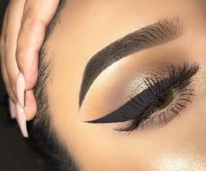 chic, eyes, and makeup image